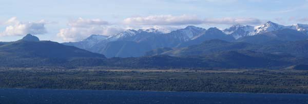 Mountains over Lago Huapi